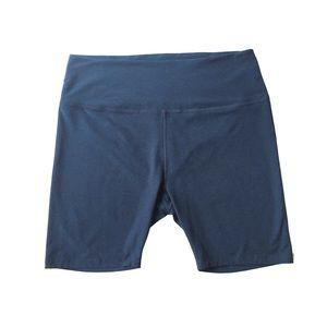 3X Beyond Yoga Navy Blue High Waist Yoga Shorts